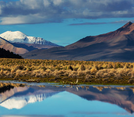 Fototapeta góry w Boliwii