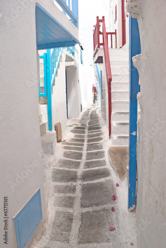 Traditional greek house on Mykonos island, Greece