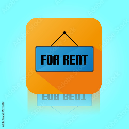 Flat Color For Rent Label Icon