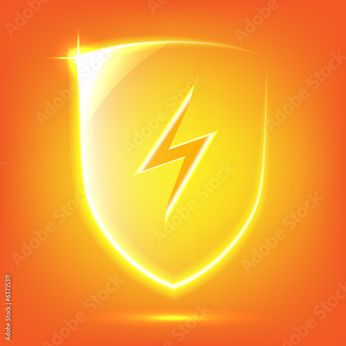 Orange glass shield