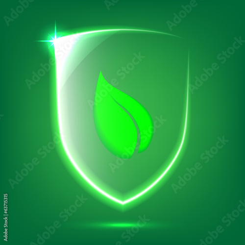 Green glass shield