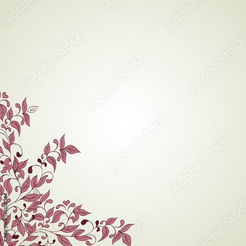 Hand drawing floral background