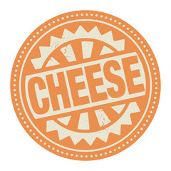 Abstract stamp or label with the text Cheese written inside