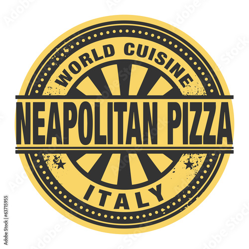 Abstract stamp or label with the text World Cuisine, Neapolitan