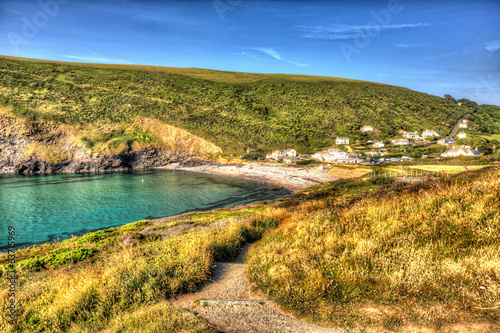 Crackington Haven beach North Cornwall in HDR