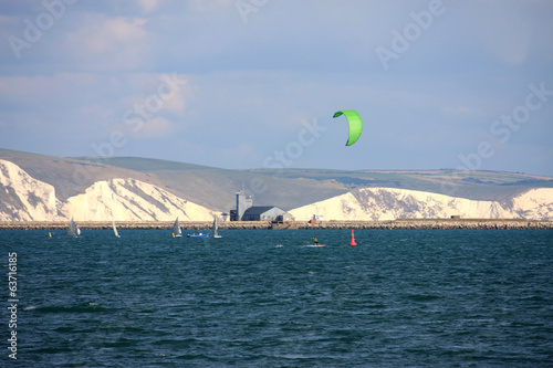 kitesurfer in Portland Bay