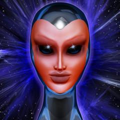 Blue Alien Mental Energy
