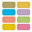 Colorful Retro Vector Ticket Set Illustration