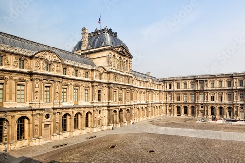 External view of the Louvre Museum