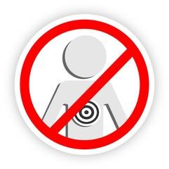 Stop violence - sticker