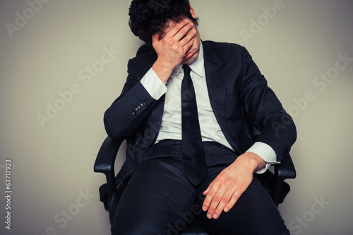 Sad and tired businessman