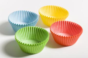 Bunte Formen für Cupcake