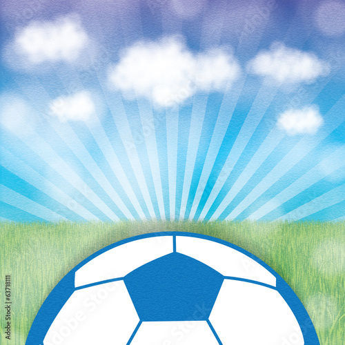 Abstract creative soccer background