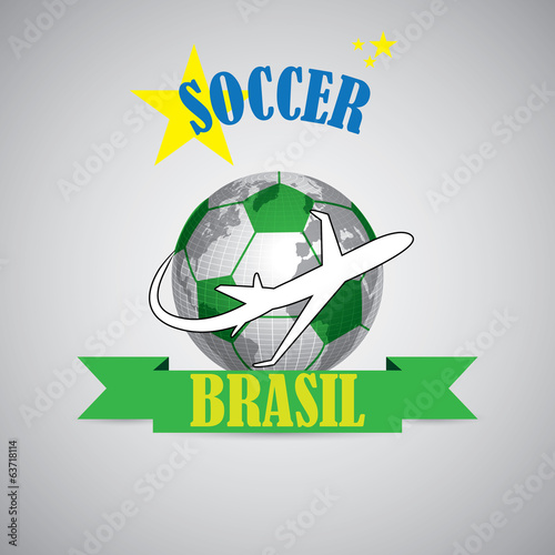Creative soccer symbol of a ball