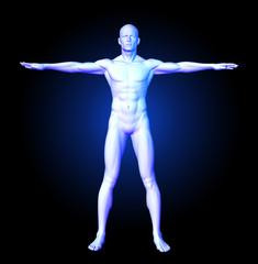 Medical man in standing pose