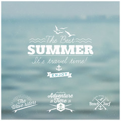Summer Card - calligraphic and typographic elements, frames
