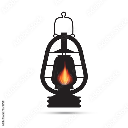 Vintage Lantern, Gas Lamp Illustration