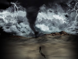 Fototapety Tornado storm