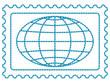 Globe on stamp