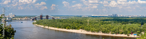 Panorama of Dnieper river in Kiev, Ukraine