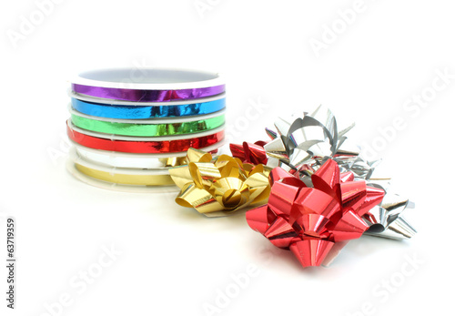 Colorful ribbons and bows