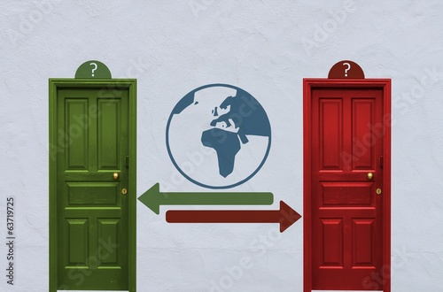 world decision between two doors