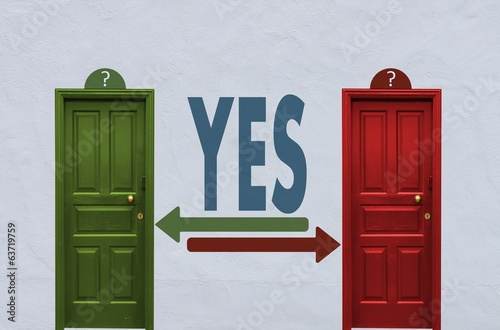 yes decision between two doors