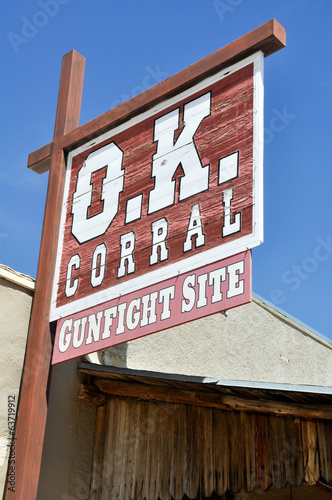 O.K. Corral sign, Tombstone (Arizona)