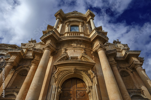 Italy, Sicily, Noto, the S. Domenico Church baroque facade