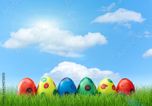 colored easter eggs collection