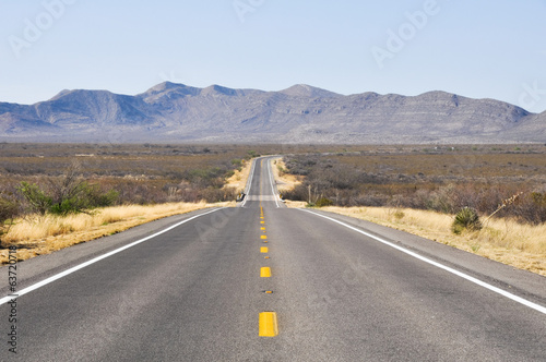 Road in the desert of Arizona (USA)