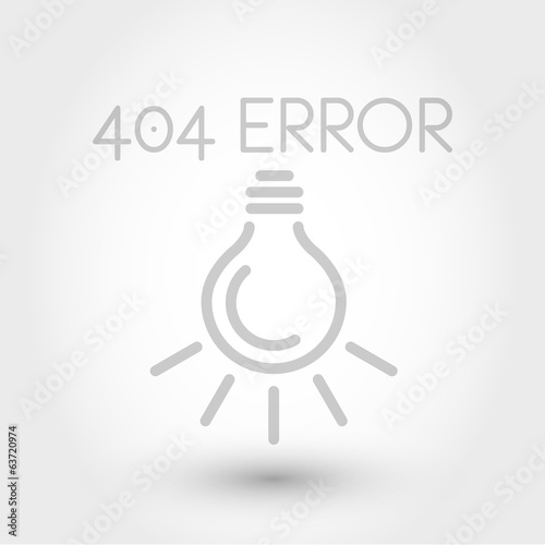 grey 404 error with bulb