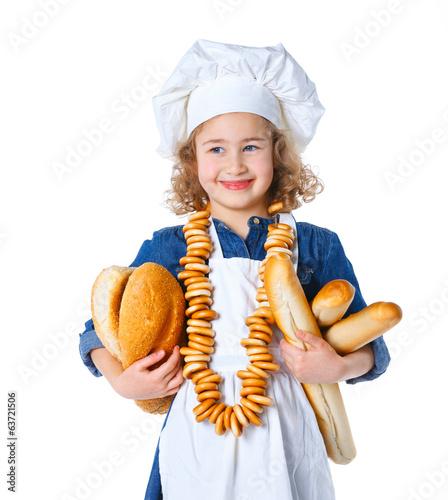 Fotobehang Koken Little baker.