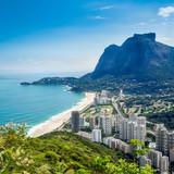 Fototapety Sao Conrado with Pedra Da Gavea Hill, Rio de Janeiro