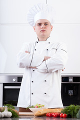 Self-confident young cook