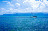 Sailboat in the South Pacific Ocean - 63722125