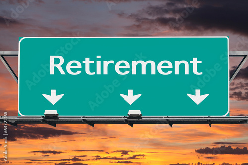 Freeway to Retirement Road Sign