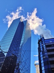 Wolkenkratzer Rauch