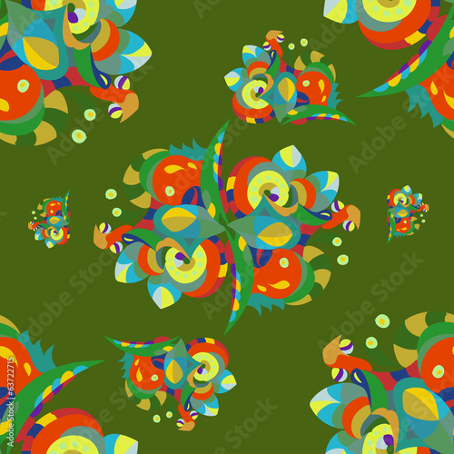 drawn seamless color pattern