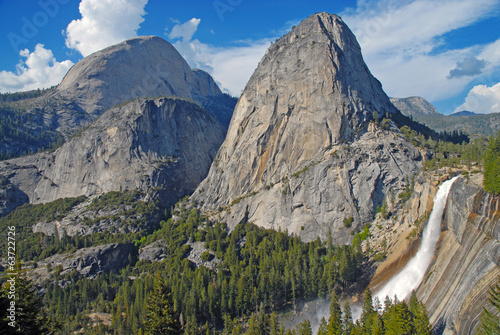 Half Dome and Nevada Fall, Yosemite National Park, California