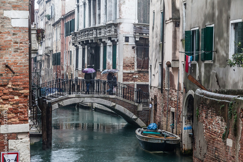 Rainy veiws around Venice and its canals and Gondolas