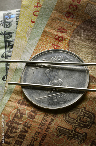 रुपया Indian rupee Rupia indiana India Indische Rupie