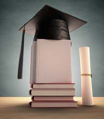 Graduation Cover. Clipping path included.