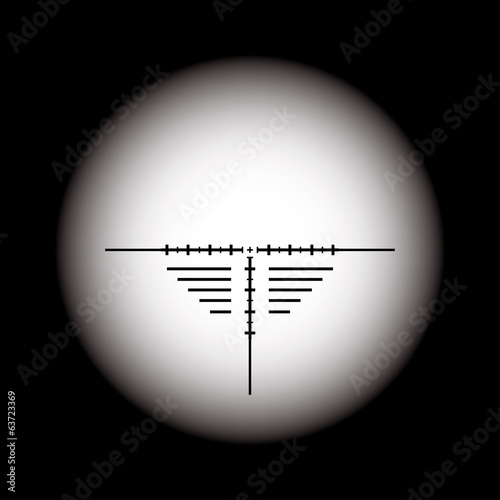 Rifle scope. Vector EPS10.