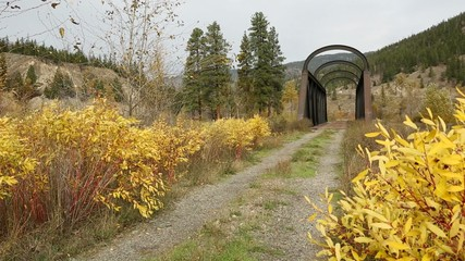 Nicola River Kettle Valley Rail Bridge British Columbia