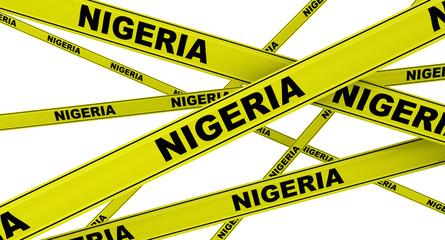 Нигерия (Nigeria). Желтая оградительная лента