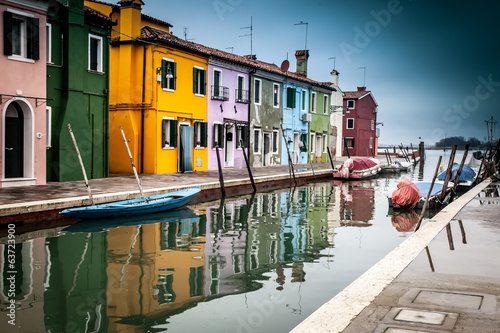 Views around Burano af Venice Italy Europe