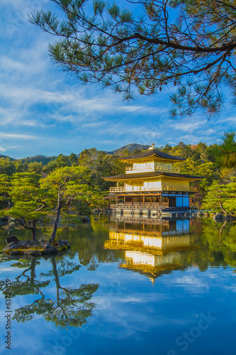 Kinkakuji The Golden Pavillion in Kyoto , Japan