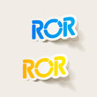 realistic design element: ROR