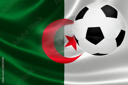 Soccer Ball Leaps Out of Algeria's Flag